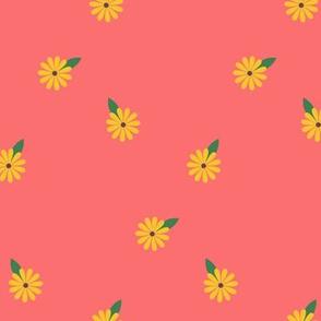 Summer Hippie Flowers Secondary /Peach