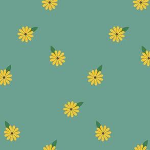 Summer Hippie Flowers Secondary / Aqua