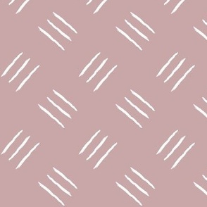 mudcloth freehand checkerplate - dusty pink