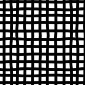 Wonky Check Black & White