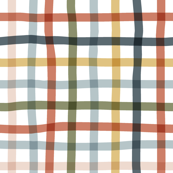 Multicolor Wonky Check