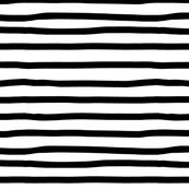 Black & White Wonky Stripes