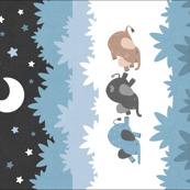 """Sleepy Elephants Blankets 18""""x27"""" Blue"""