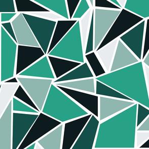 Colour Blocking Green Emerald