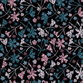 Flowers within flowers dark floral