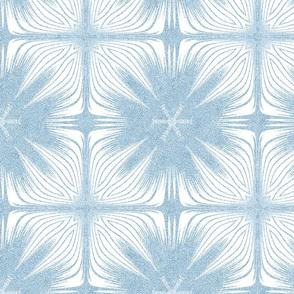 Faux Velvet Exotic Flower Petal Soft Blue