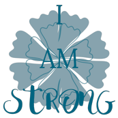 i am strong mantra, blue