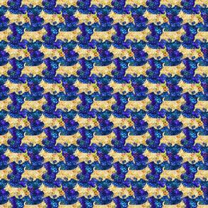 Cosmic Trotting Australian Terriers - night