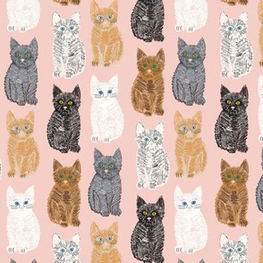 Scribble Kittens - Pink - Small