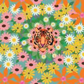 Tiny Sunshine Lion Flower / Aqua
