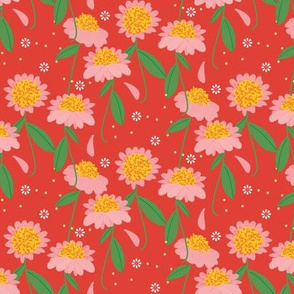 Tiny Sunshine Wildflower / Brick