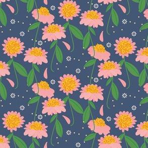 Tiny Sunshine Wildflower / Blue