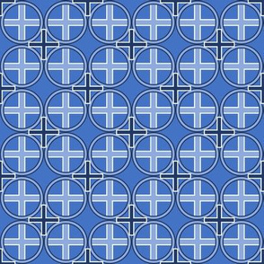 Circle Cross in Blue