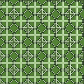 Circle Cross in Green