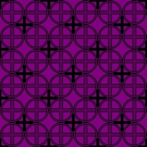 Circle Cross in Purple