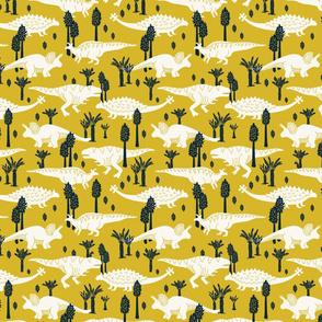 Dinosaurs - Small - Yellow