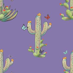Cactus & Butterflies 2 final lavender