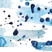Navy Blue Watercolor Pattern design