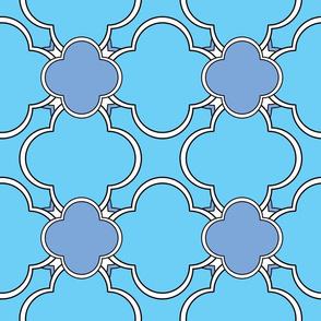 Morocco (Pale Blue) 9inch repeat, David Rose Designs