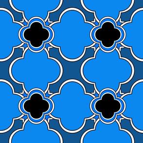 Morocco (Blue) 9inch Repeat, David Rose Designs