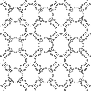 Morocco (White and Black) 6inch repeat, David Rose Designs