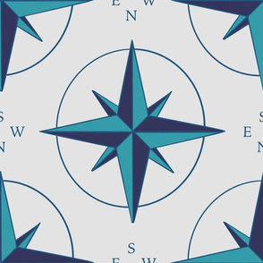 The Compass on blue