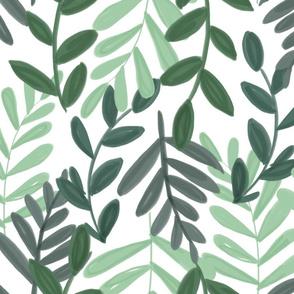 dense leaves