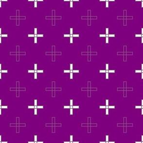 Open Greek Cross in Purple