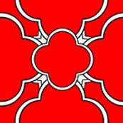 Morocco (Red Mini Print) 1inch Repeat, David Rose Designs