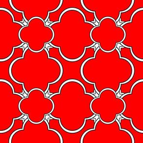 Morocco (Red) 9inch repeat, David Rose Designs