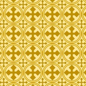 Gold Circle Cross