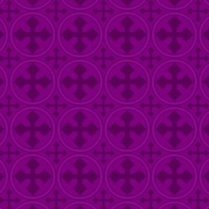 Greek Circle Cross in Purple