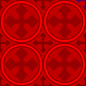 Greek Circle Cross in Red