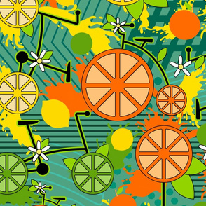 Citrus Pop Bikes- Large Scale