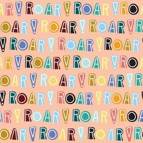 rainbow roar - peach - small