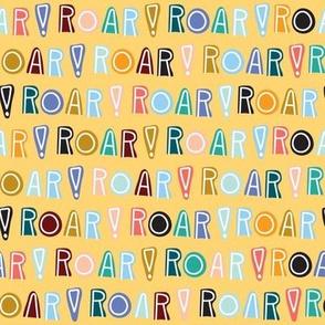 rainbow roar - yellow - small