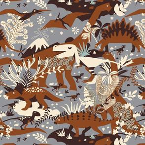 Dino world | brown gray