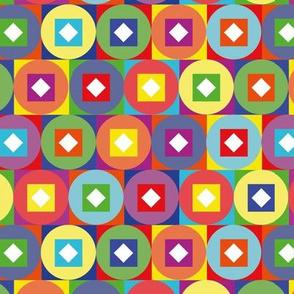 Colour Blocks and Circles rainbow