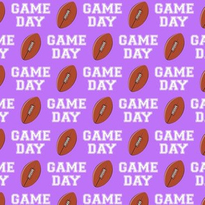 (small scale) Football - Game Day - purple - LAD19BS