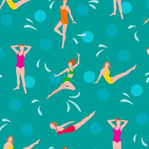 Hommage to Esther Williams Turquoise