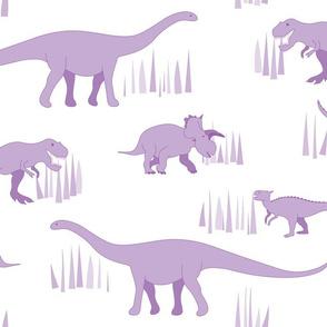 dinosaurs pattern purple-large