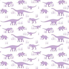 dinosaurs pattern purple-medium