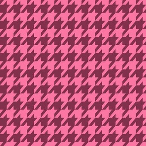 Houndstooth Small Custom Pink