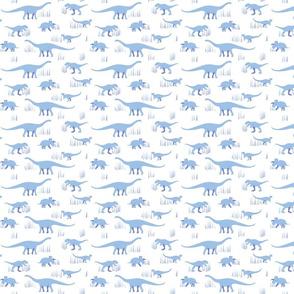 dinosaurs pattern- blue-small