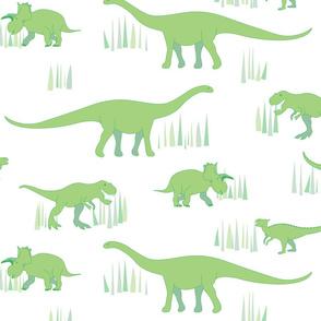 dinosaurs pattern- green-large
