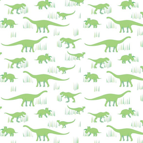 dinosaurs pattern- green-medium