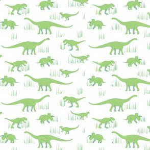 dinosaurs pattern- green-medium