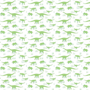 dinosaurs pattern- green-small