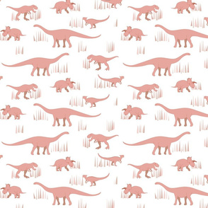 dinosaurs pattern- red-medium