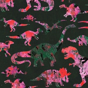 Dino-mite Abstract Art Silhouettes
